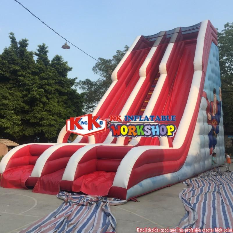 amusemenr park giant slide equipment Inflatable super hero dry slide