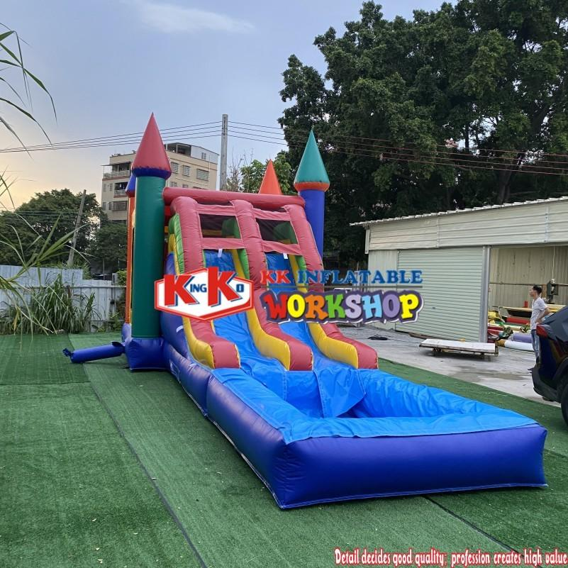 Adult Combo Inflatable Water Bouncer Bounce House Bonucy Castle Inflatable Jumping Slide With Slide With Pool And Slide