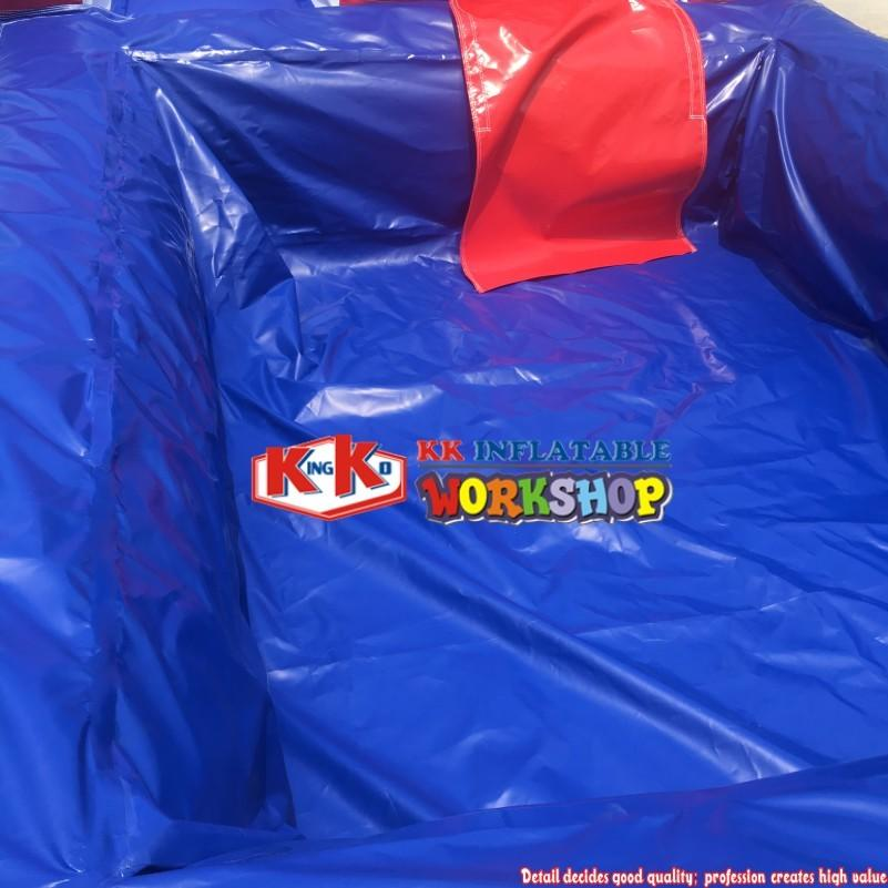 Summer Kids / 23' Red Screamer Slide with Pool , Adult Inflatable Water Slides With Blower Blue And Red