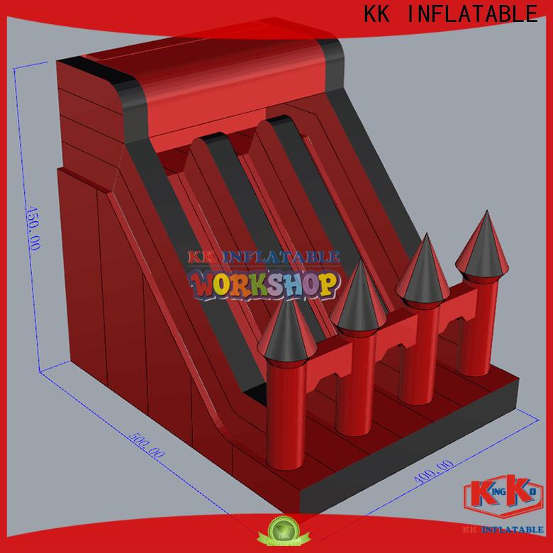 KK INFLATABLE transparent pig inflatable slide manufacturer for parks