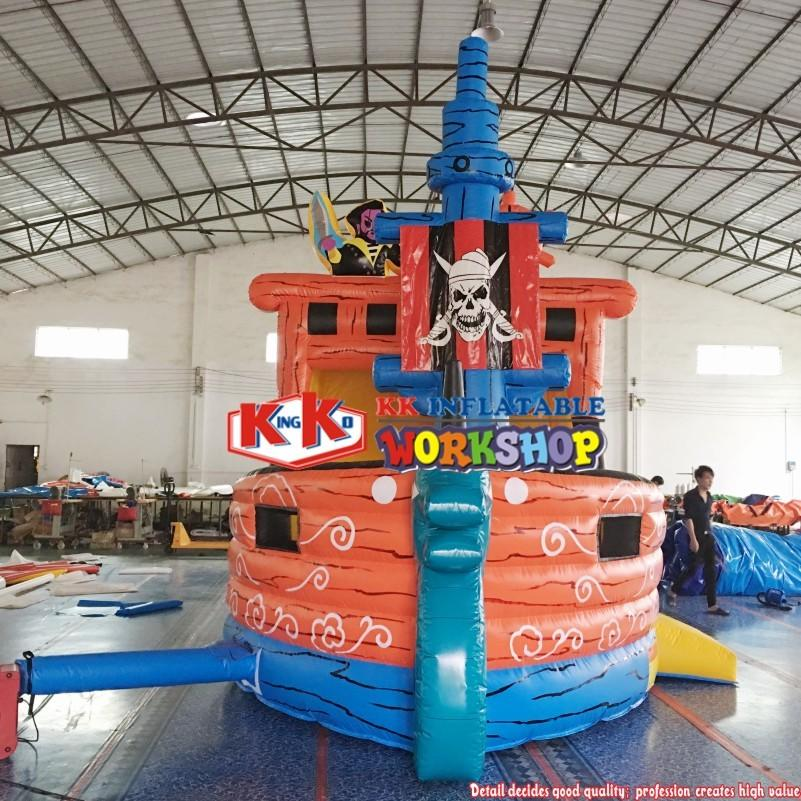 10x5m Inflatable Pirate Slide Boys Inflatable Boat Slide Commercial Giant Inflatable Pirate Ship Slide Combo