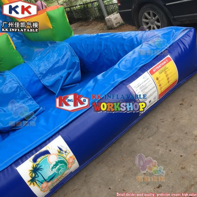 0.55mm PVC Double Lane Water Slides Super High Colorful Inflatable Water Slide with Deteachable Pool