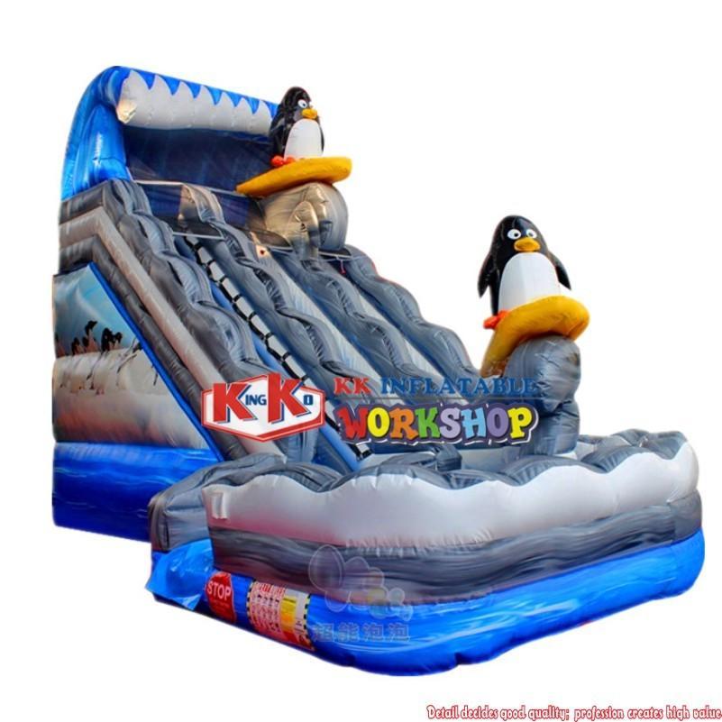 Qatar Australia rental inflatable penguin water slide with repair kit