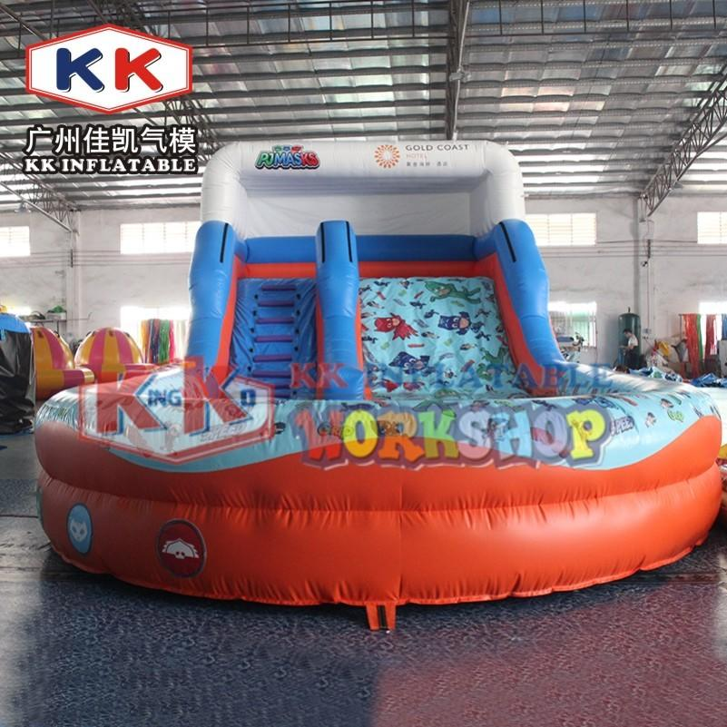 Splashy Sonic theme Commercial tropical inflatable water slide with pool, kids home garden or outdoor backyard waterslide