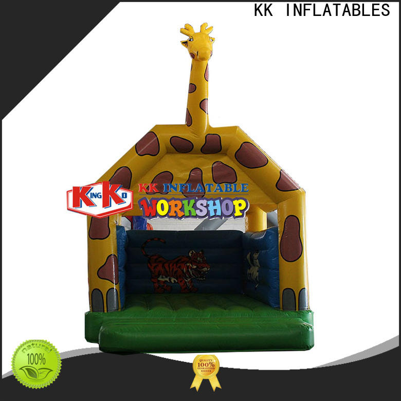 KK INFLATABLE pvc moon bounce wholesale for outdoor activity