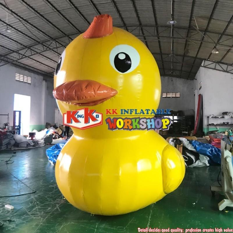3m Cute Inflatable Cartoon Yellow Rubber Duck, Water Fixed Yellow Duck Cartoon Figure For Water Events