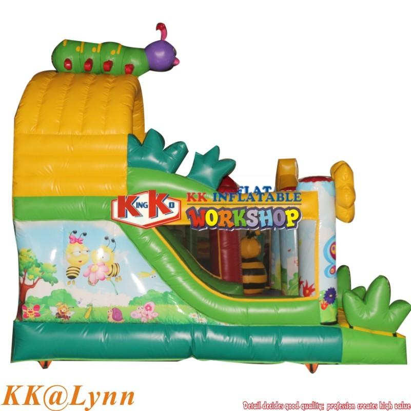 Family Garden Use Honeybee Flower Inflatable Bouncer Slide Combo Jumping Castle For Kids