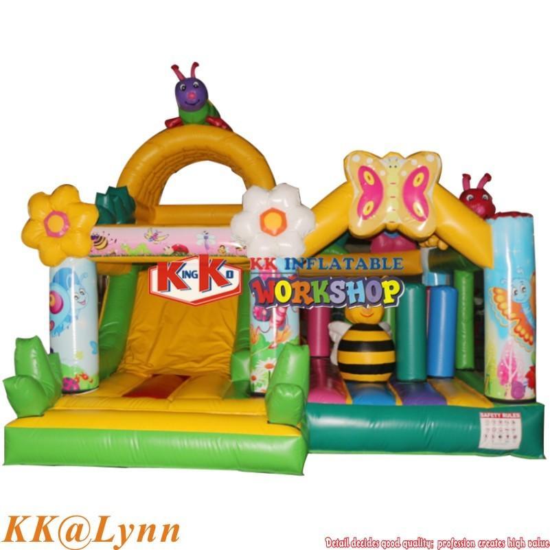 Family Garden Use Honeybee Flower Inflatable Bouncer Slide Combo Jumping Castle For Kids