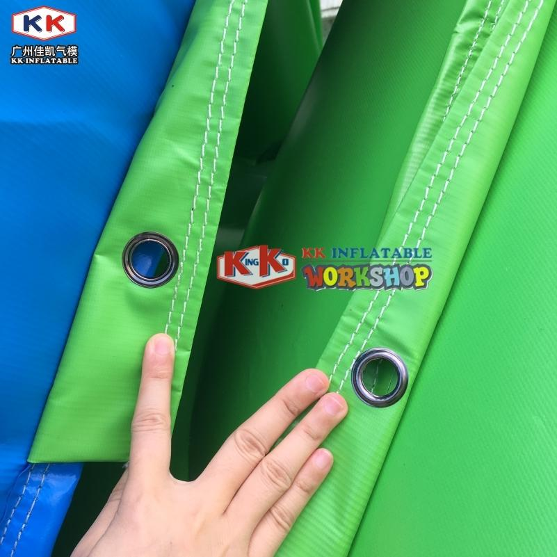 12mH Hippo Custom Water Slide For Adult , Tobogan Dry Playground Inflatable Water Slides