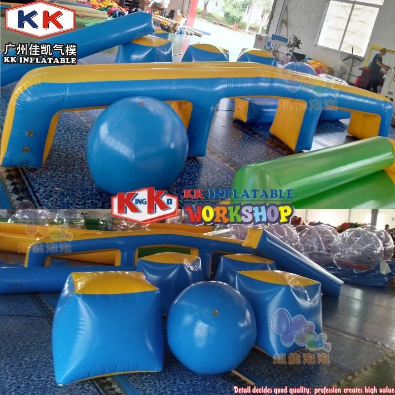 Backyard CS Game Archery Equipment PVC Inflatable Wall Lasertag Speed Ball Bunkers Set Air Soft Paintball Obstacle Bunker