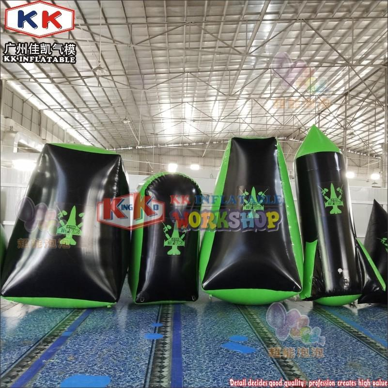 Different Size Inflatable Paintball CS Bunker Inflatable Paintball Arena For Outdoor Shooting Game