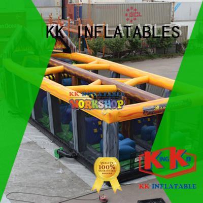 KK INFLATABLE cartoon obstacle course for kids good quality for adventure