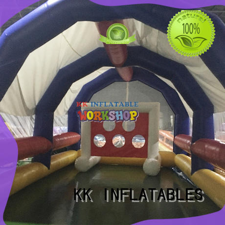KK INFLATABLE long kids climbing wall wholesale for training game