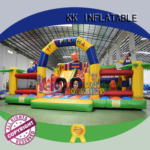KK INFLATABLE trampoline jumping castle manufacturer for playground