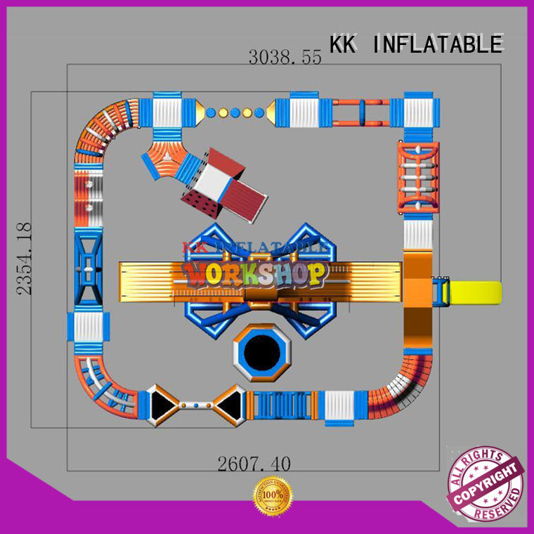 KK INFLATABLE hot selling inflatable water playground cartoon for children