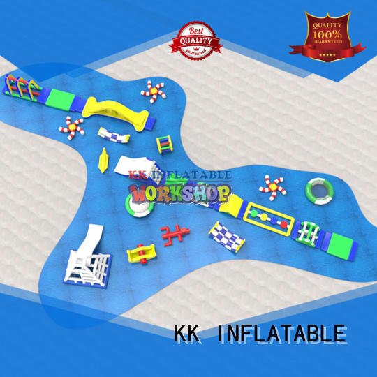 KK INFLATABLE huge inflatable floating water park factory direct for beach seaside