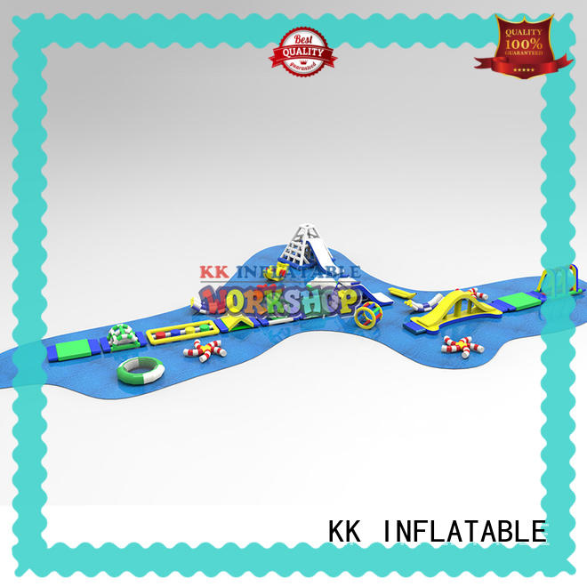 rainbow inflatable water parks manufacturer for seaside KK INFLATABLE