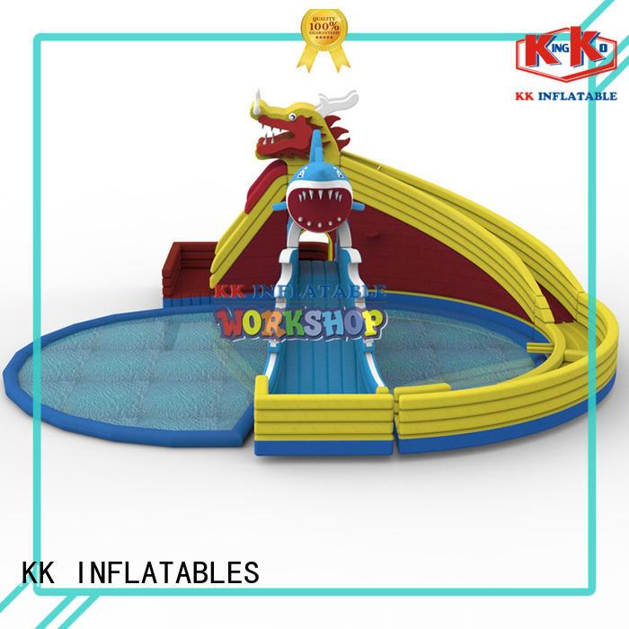 rainbow inflatable water parks pvc for amusement park KK INFLATABLE