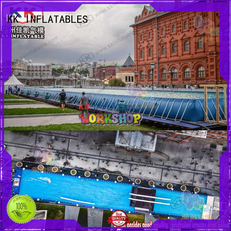 KK INFLATABLE hot selling inflatable water playground dinosaur for children