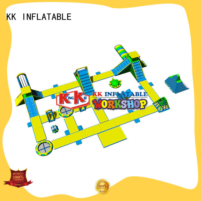 slide pool combination inflatable water parks good quality for seaside KK INFLATABLE
