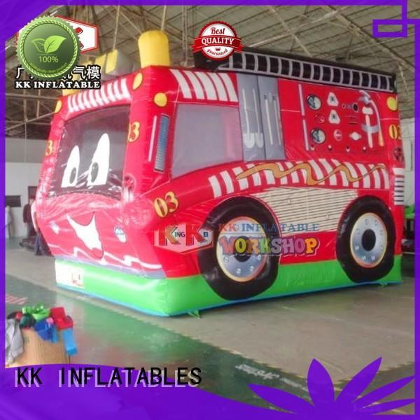 durable party jumpers fire truck factory direct for outdoor activity