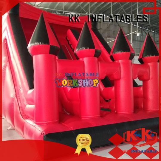 KK INFLATABLE transparent pig big water slides supplier for playground