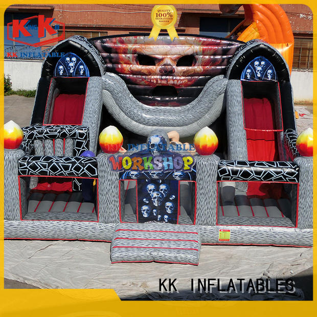 castle water obstacle course wholesale for playground KK INFLATABLE