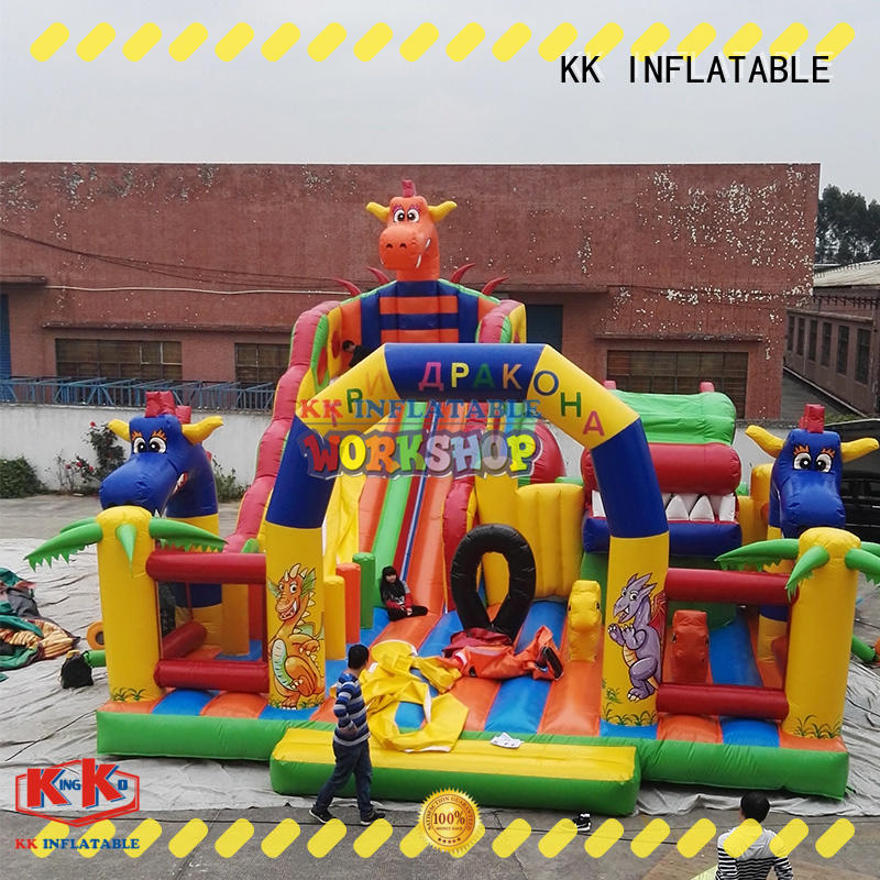 KK INFLATABLE high quality moon bounce animal modelling for event