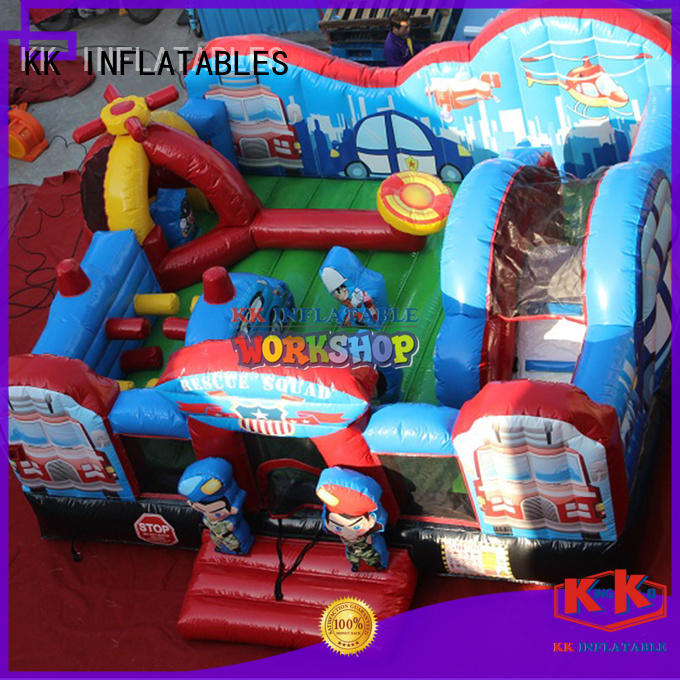 KK INFLATABLE cartoon obstacle course for kids manufacturer for playground