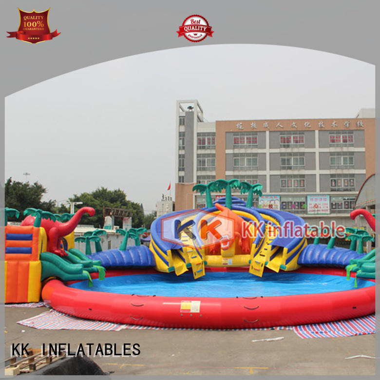 durable inflatable theme playground blue animal modelling for paradise