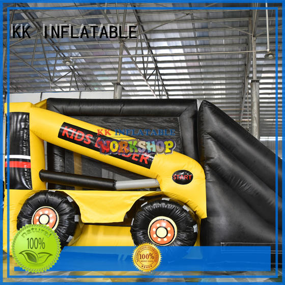 PVC bouncy castle with slide various styles for paradise KK INFLATABLE
