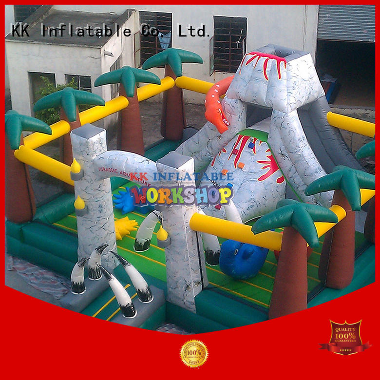 KK INFLATABLE Brand obstacle sport fire custom inflatable assault course