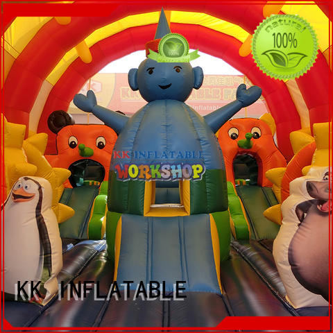 rehearse Custom shoogle inflatable obstacle course games KK INFLATABLE