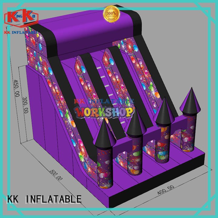 creative inflatable slide fire truck shape supplier for exhibition