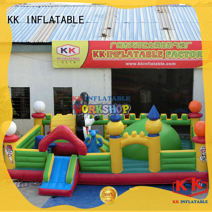 multifuntional inflatable water obstacle course manufacturer for adventure KK INFLATABLE
