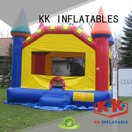 animated cartoon inflatable castle colorful for amusement park KK INFLATABLE