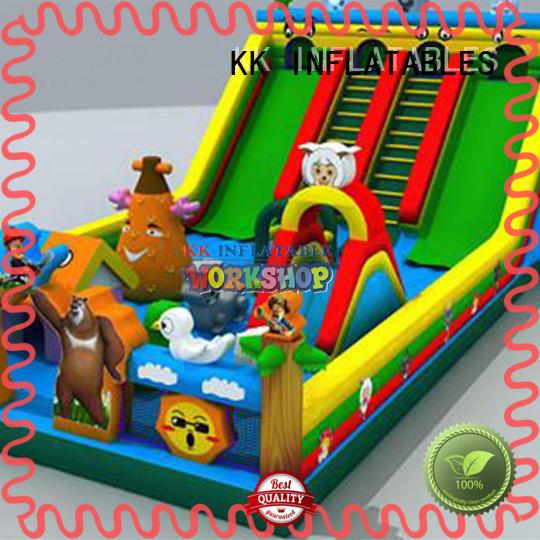 transparent inflatable bouncy castle jumping for amusement park KK INFLATABLE