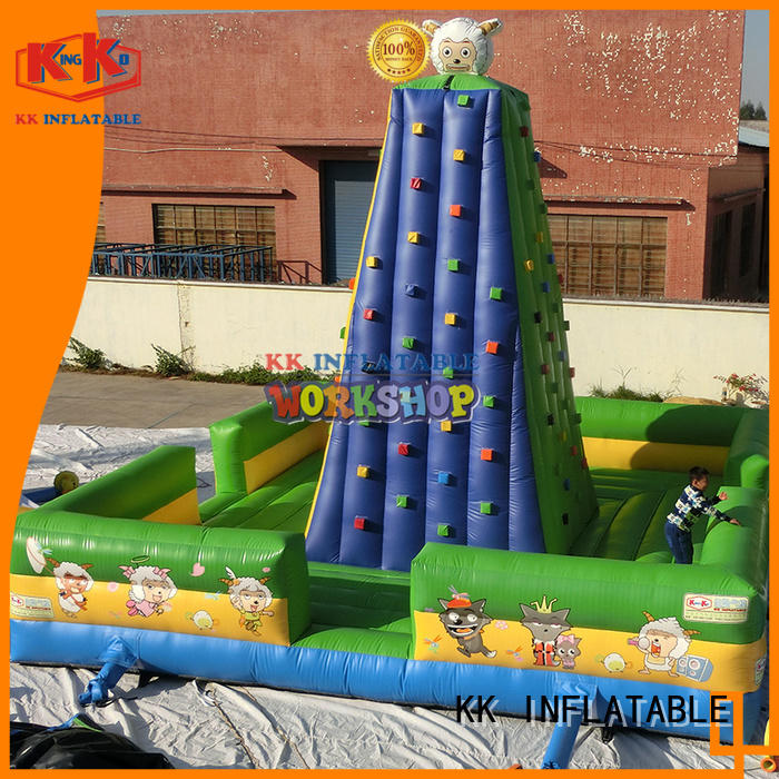 Quality KK INFLATABLE Brand outdoor kids climbing wall