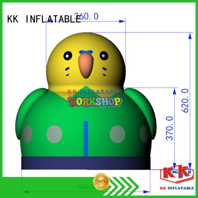 KK INFLATABLE cartoon water slide jumper supplier for amusement park