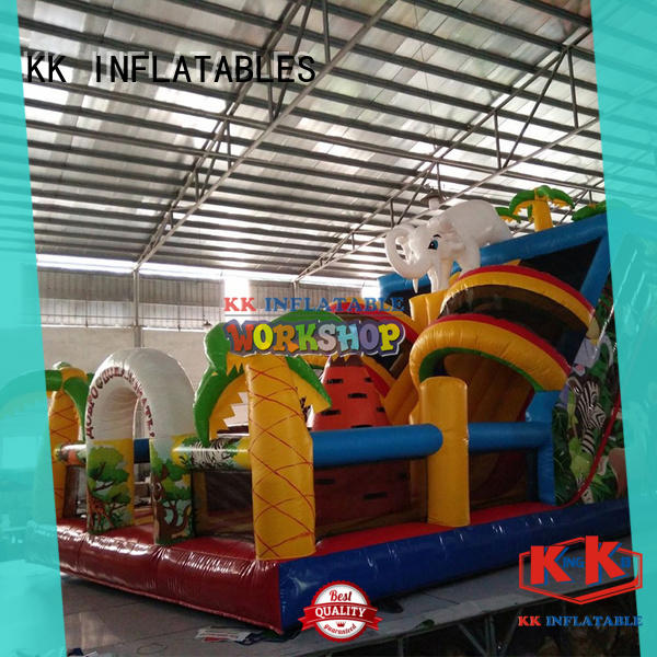 portable inflatable castle jumping colorful for children
