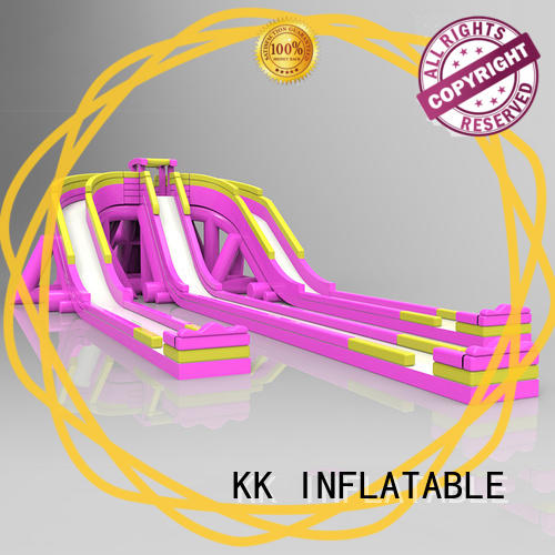 inflatable water playground rainbow for amusement park KK INFLATABLE