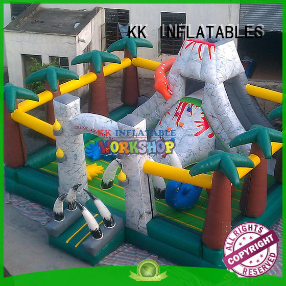 KK INFLATABLE funny inflatable obstacle course wholesale for adventure