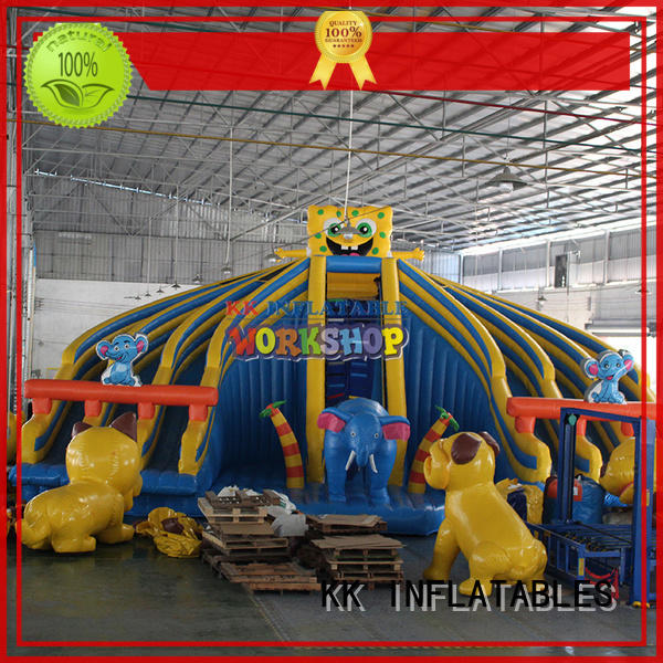 KK INFLATABLE hot selling inflatable water parks multichannel for amusement park