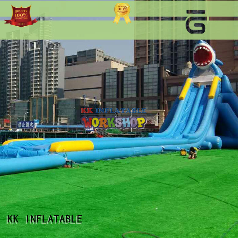 multichannel inflatable water playground factory price for amusement park KK INFLATABLE