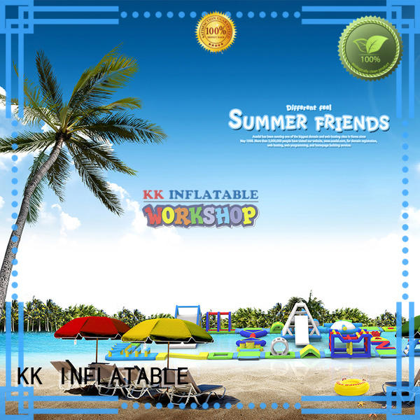 KK INFLATABLE colorful inflatable floating water park manufacturer for paradise