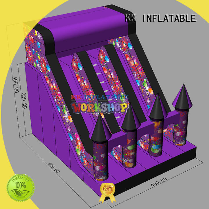 blow up water slide jump bed for parks KK INFLATABLE