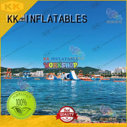 KK INFLATABLE multichannel inflatable water parks manufacturer for amusement park