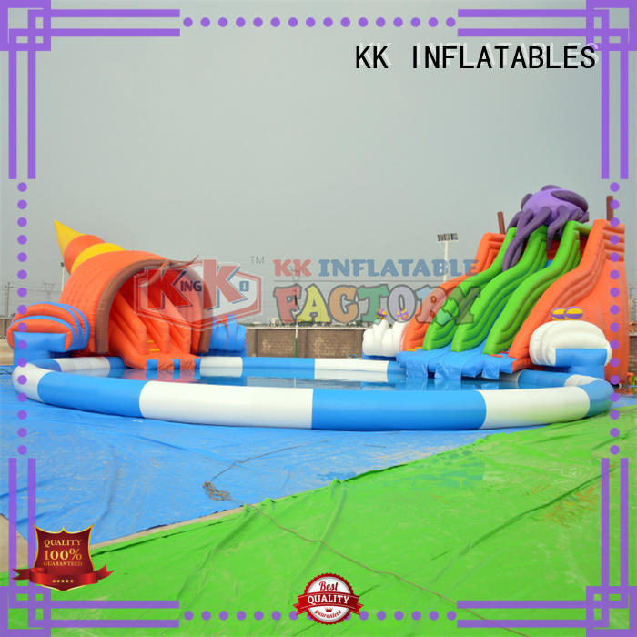 inflatable water playground cartoon for beach KK INFLATABLE