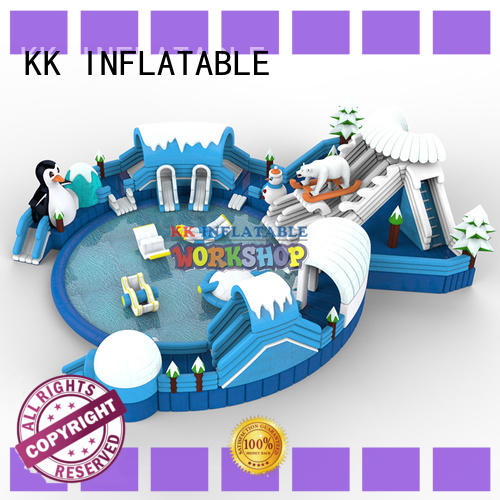 hot selling kids inflatable water park supplier for beach KK INFLATABLE