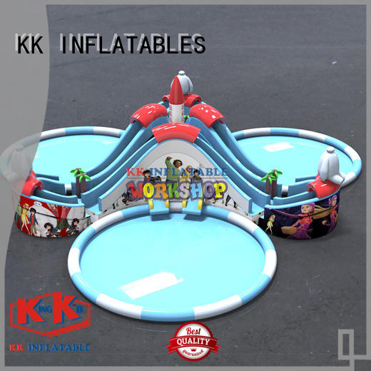 multichannel inflatable water parks supplier for children KK INFLATABLE